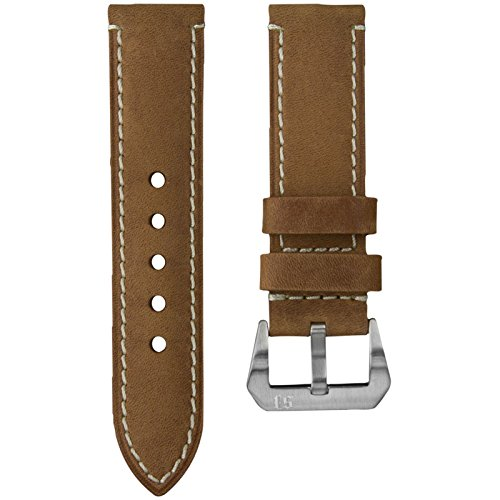 Leather-Watch-Band-Light-Brown-Vintage-Leather-22mm