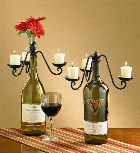 Three-Votive Candelabra Wine Bottle Topper