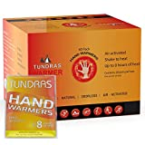 Tundras Hand Warmers 40 Count – Safe and Odorless Single Use Air Activated Heat Packs for Hands, Toes and Body - Up to 8 Hours of Heat – TSA Approved