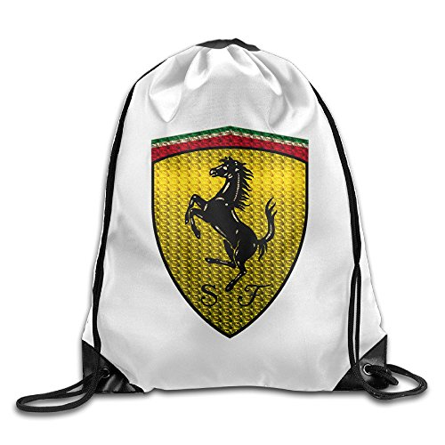 BACADI A Team Logo Of Called Ferrari Drawstring Backpacks/Bags.