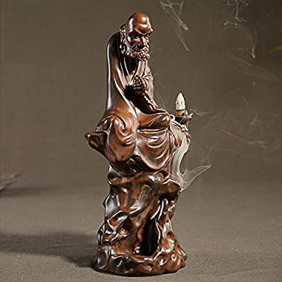 Bodhidharma Smoke Backflow Incense Burner/holder
