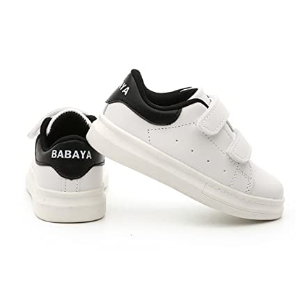 ALUK- Chaussures pour enfants - printemps et automne chaussures de bébé occasionnels chaussures de sport respirantes petites chaussures blanches ( Couleur : Noir , taille : 29-foot length 18.2cm )