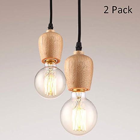 2 * E27 Lámpara colgante moderna lámpara colgante lámpara de ...