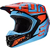 Fox Racing Falcon Adult V1 Motocross Motorcycle Helmets - Black/Orange / 2X-Large