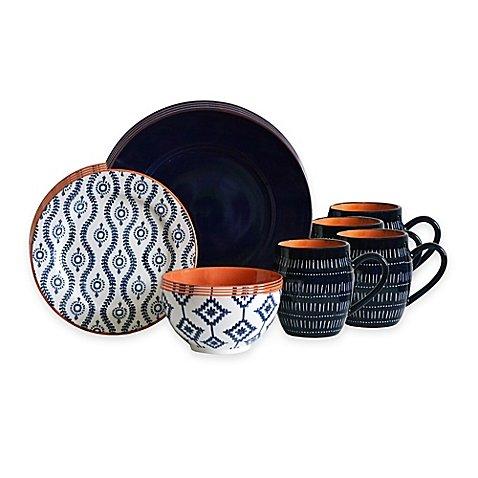 Baum Tangiers 16-Piece Dinnerware Set in - Rachel Style Bilson