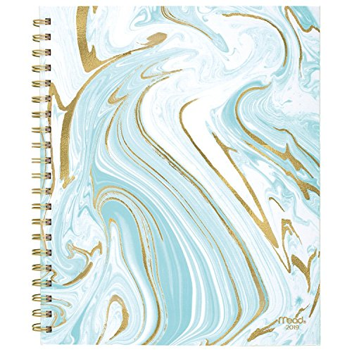 """Mead 2019 Weekly & Monthly Planner, 8-1/2"""" x 11"""", Large, Hardcover, Artisan, Design Selected For You (CRW60710) ( Assorted Designs )"""