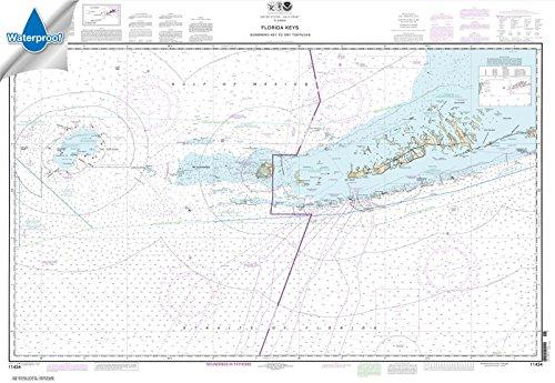 NOAA Chart 11434: Florida Keys Sombrero Key to Dry Tortugas, 32.8 X 47.6, WATERPROOF