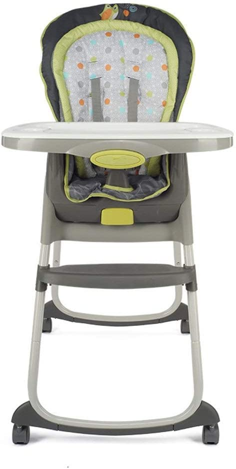 子供用ダイニングチェア 一流の取り外し可能な折る赤ん坊の食べるハイチェア3位置のリクライニングシート携帯用多機能供給の軽食のブースターシートのための座る睡眠遊ぶことダイニングテーブルの椅子が付いている椅子椅子5位置の安全ハーネスシートクッションパッド 赤ちゃんの家か外 (色 : グレー, サイズ : Free size)