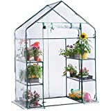 Heritage Garden PVC Greenhouse Walk In 6 Shelf Plastic Shelter Grow Plant House Outdoor Plants Gardening Green House