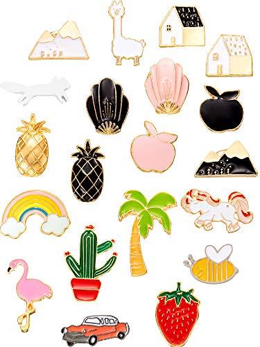 - Gejoy 20 Pieces Cartoon Brooch Pin Enamel Pins Set Cute Brooch Lapel Badges for DIY Clothing Bags Backpacks Jackets