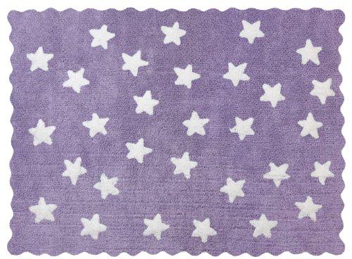 100% Baumwolle Teppich Maschine waschbar für Aratextil. Colección Eden Lila 120x160 cms
