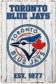 Toronto Blue Jays 24x16 Established Faux Wood Sign
