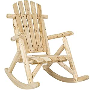 Wood Log Rocking Chair Single Rocker Natural