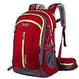 Waterproof Hiking Backpack, 40L Nylon Large Capacity to meet Sport Camping Travel Trekking Rucksacks Pack Mountaineering Climbing Knapsack (40L 03 Red, 40L)