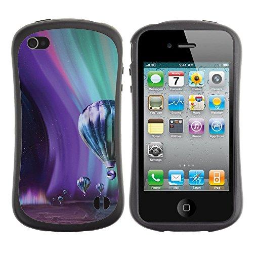 Apple Iphone 4 / 4S [Jupiter Aurora Space Sky Art Illustration Parallax]