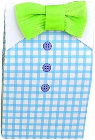 RETYLY Caliente para Fiesta de Cumpleanos y Evento 10Pcs Chicos Chicas Personalizada Corbata Caramelo Camisa a Cuadros Corbata Caja de Dulces de Boda Bolsa de Regalo de Fiesta de Bebe: Amazon.es: Hogar