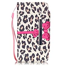 Huawei Y6 case,Gift_Source [Yellow Leopard] [Slim Fit] [Kickstand] [Money Cards Slot] Premium PU Leather Wallet Case Flip Cover Folio Case With Lanyard For Huawei Y6 smartphone