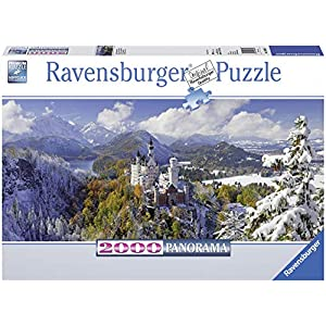 Ravensburger Neuschwanstein Castle 2000 Piece Panorama XXL Jigsaw Puzzle for Adults - Softclick Technology Means Pieces Fit Together Perfectly