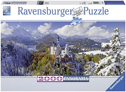 (Ravensburger Neuschwanstein Castle 2000 Piece Panorama XXL Jigsaw Puzzle for Adults - Softclick Technology Means Pieces Fit Together)