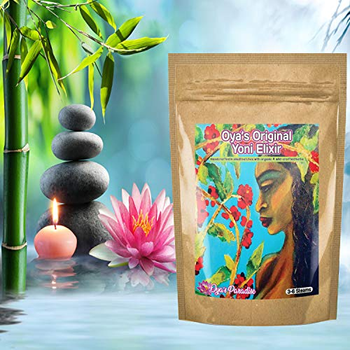 (6 Steams) Yoni Steam Herbs Blended w/Healing Energy | Herbs for Vaginal Steaming, V-Steaming, Feminine Health | Made in Small Batches | Oya's Paradise