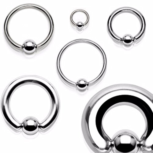 Freedom Fashion Captive Bead Rings 316L Surgical Steel (Sold by Piece)