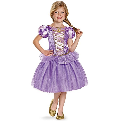 Disguise Rapunzel Classic Disney Princess Tangled Costume, Medium/7-8 (Princess Costumes For Teens)