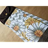 Chevron and Daisy Hanging Kitchen Towel, Spring Button Top Towel, Floral Kitchen Linens, Home Decor, Hostess Gift, Housewarming Gift, Gifts under 20, Modern Kitchen Linens