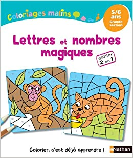 Coloriages Malins Lettres Et Nombres Magiques Gs Amazon