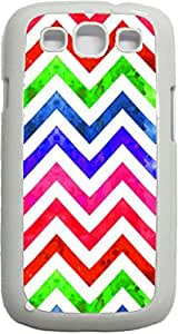 Watercolor Chevrons- Case for the Samsung Galaxy S3 i9300 -Hard White Plastic Case