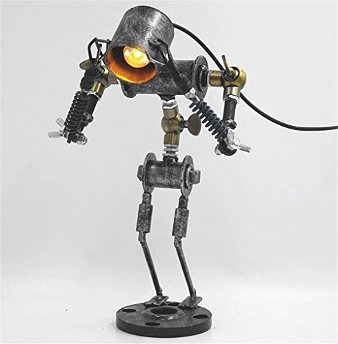 Retro Industrial Vintage Adjustable Desk Lamp Hand Made Iron Craft LED Table Lamp Bedroom Living Room Bedside Lamp Bar Cafe Classic Creative Personality Desk Light Table Light with Power Switch Button