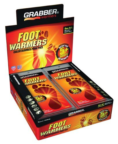 Grabber Performance Grp (a) Foot Warmer Display Grabber Medium/Large Box/30 Pair by Grabber Performance Grp