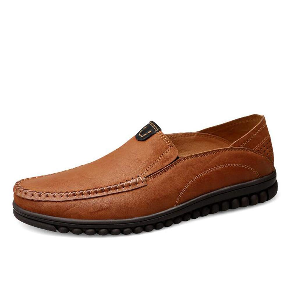 Hy Herrenschuhe, Federlederform-Business-Schuhe, Light Soles Loafers & Slip-Ons Walking schuhe,braun,43