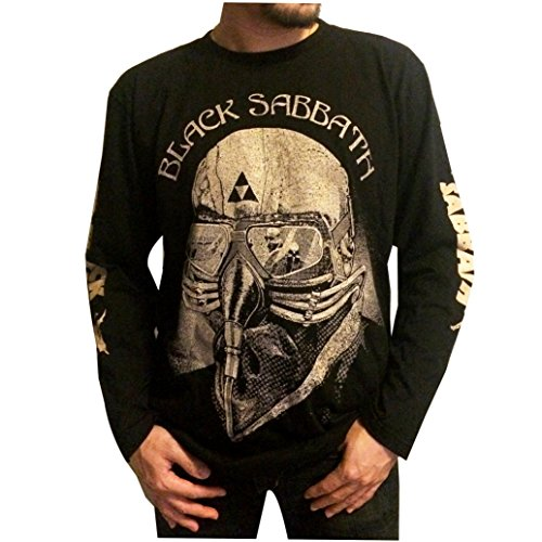 Jigg And Roll Men's Black Sabbath T-Shirt Long Sleeve Large Black Long Sleeve Band Shirts