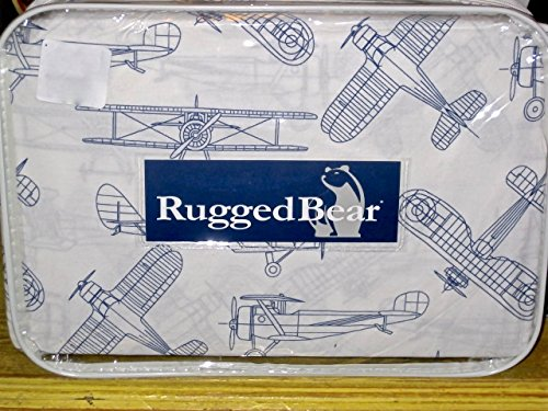 Rugged Bear Vintage Airplane Sheet Set, Full Size (Sheet Flat Vintage)