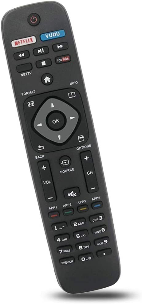 Bincolo NH500UP - Mando a Distancia de Repuesto para televisor Philips 32PFL4902/F7, 40PFL4901/F7, 43PFL4901/F7, 50PFL5602/F7, 55PFL5602/F7, 65PFL5602/F7, 75PFL6601/F7 y más: Amazon.es: Electrónica