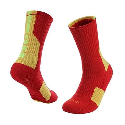 Ishero Calcetines de Baloncesto de Tubo Medio Calcetines Deportivos de Baloncesto Calcetines de élite antifricción Resistentes