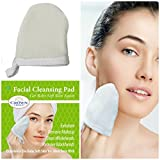 Natural Exfoliating Facial Scrubber Pad (1PK) | Durable Pore Cleansing and Face Buff Puff Exfoliator | Mitt Style to Wash Face, Remove Dead Skin, Whitehead, Acne