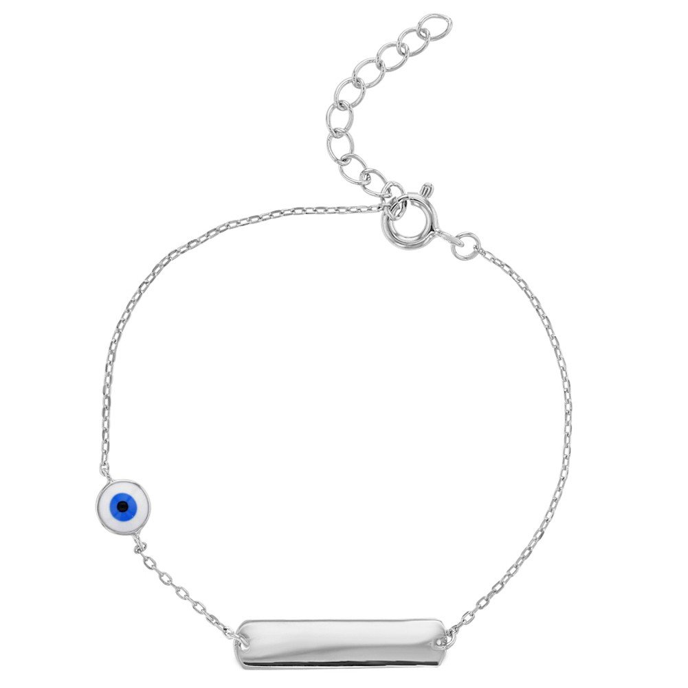 In Season Jewelry Kinder - Armband ID Nazar Böser Blick Schutz 925 Sterling Silber 15cm