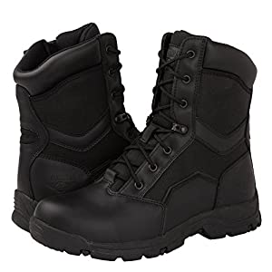 kingshow KS Men's Side Zip Work Boots 11 D(M) US, 1587BLK