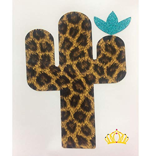 Leopard Print Cactus Decal for Car, Tumbler, Cup, or Laptop