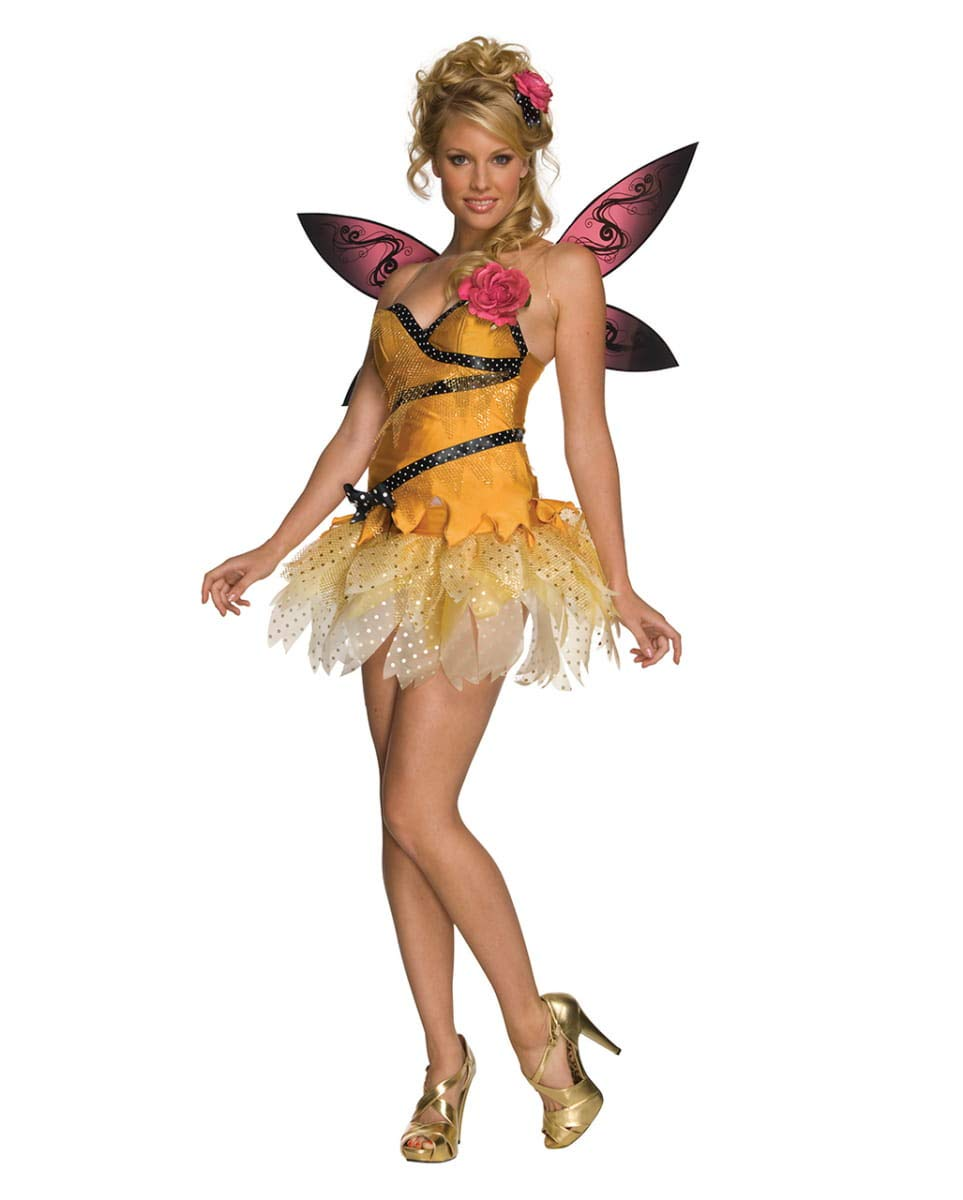 Horror-Shop 4-TLG. Freche Nymphe Kostüm als Fee Verkleidung für Karneval L B07G3FRXLR Kostüme für Erwachsene Modern    | Verrückte Preis