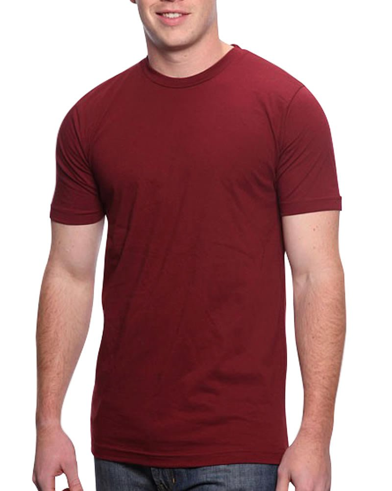 All American Clothing Co. Men's Lightweight Fine Jersey Tee Medium Burgundy