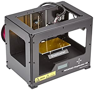 3D Prima Wanhao Duplicator 4S 3D Printer In Metal Frame Black Case Dual Extruder by Wanhao