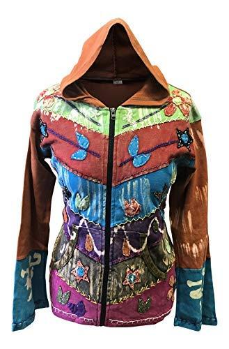 Shopoholic Mujer Grunge EMO G/ótico Oxidado Hippy Sudadera con Capucha