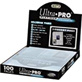 Ultra Pro - Platinum Hologram Pages - Feuilles de classeur - 100 feuilles de 9 cases (11 Trous)
