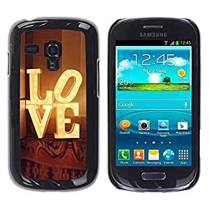 Paccase / SLIM PC / Aliminium Casa Carcasa Funda Case Cover para - Theatre Broadway Lights Text - Samsung Galaxy S3 MINI NOT REGULAR! I8190 I8190N