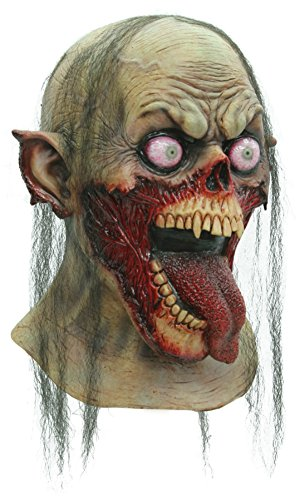 Tongue Slasher Zombie Monster Scary Latex Adult Halloween