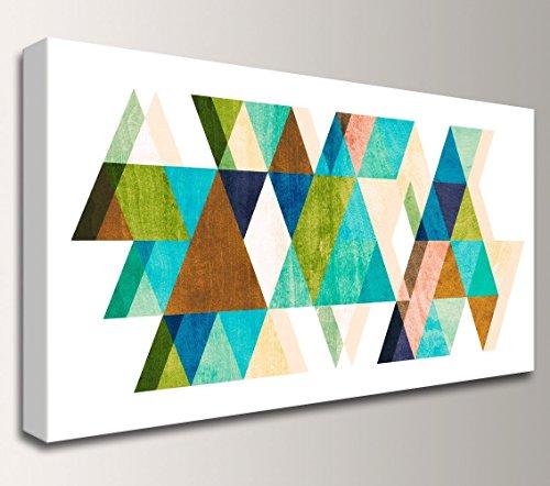 Mid-Century Modern Geometric Canvas Wall Art Decor -Warm Dimensions