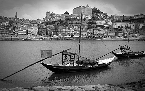 (Peel-n-Stick Poster of Port Old Town Boats Port Wine Portugal Porto Poster 24x16 Adhesive Sticker Poster Print)