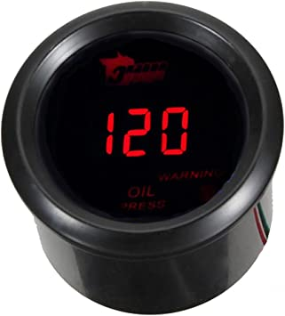 Mintice Universal 2 52mm Kfz Digital Rot Led Licht Anzeige Öldruck Anzeige Auto Instrument Messgerät Auto